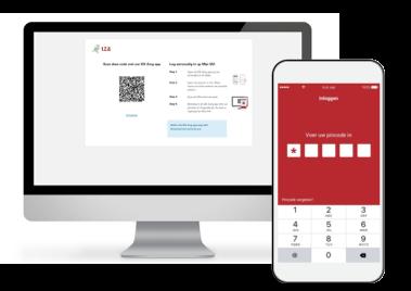 Inloggen met behulp van de IZA Zorg app pincode invoeren