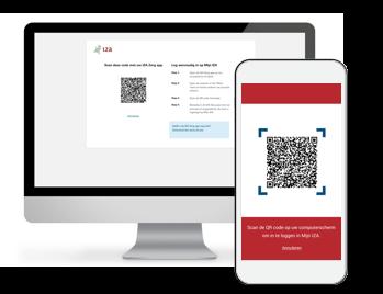 Inloggen met de IZA Zorg app - scan uw QR-code